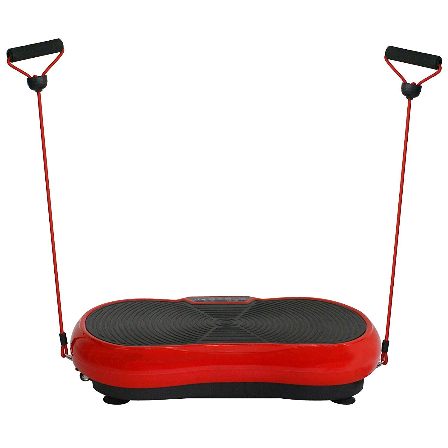 HomGarden Crazy Fitness Vibration Fit Machine Plate Platform Massager - Whole Full Body Shape Exercise Machine Workout Trainer Slim w/Bluetooth, Red by HomGarden (Image #3)