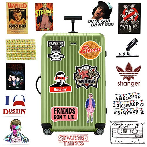 Pack of 19 Stranger Things Sticker - Funny Vinyl Laptop Stickers - Waterproof & Durable Funny Decals for Hydro Flasks, Laptops, Computers, Phones and Much More