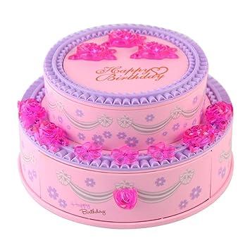 Amazoncom Saim Pink Cake Musical Jewelry Box Hand Crank Music Box