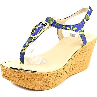 Callisto Womens Barton Split Toe Casual TStrap Sandals Floral Size 75