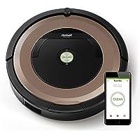 iRobot Roomba 895 - Robot Aspirador Óptimo para Mascotas, Succión 5 Veces Superior, Cepillos de Goma Antienredos, Sensores Dirt Detect, Suelos Duros y Alfombras, con Wifi y Programable por App