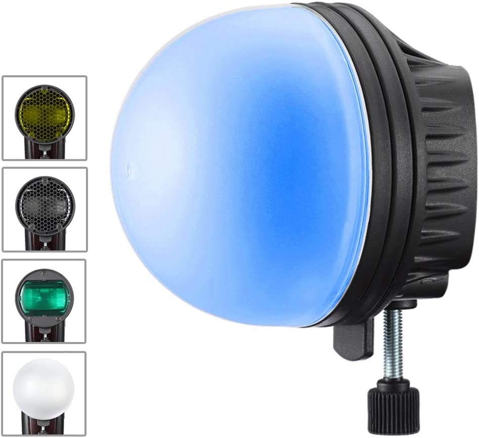 Soonpho Flash Diffuser Light Softbox Speedlite Flash Accessories Kit,Color Filter Honeycomb Grid Reflector Diffuser Ball with Universal Magnetic Mount for Canon,for Sony,For Godox Speedlite