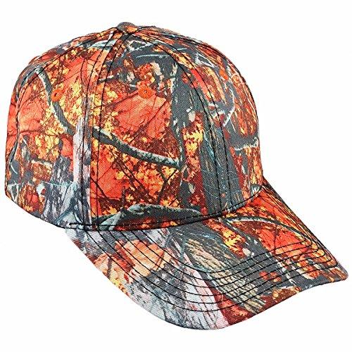 Orange Camo Cap - squaregarden Baseball Caps for Men,Adjustable Running Golf Caps Sports Sun Hats