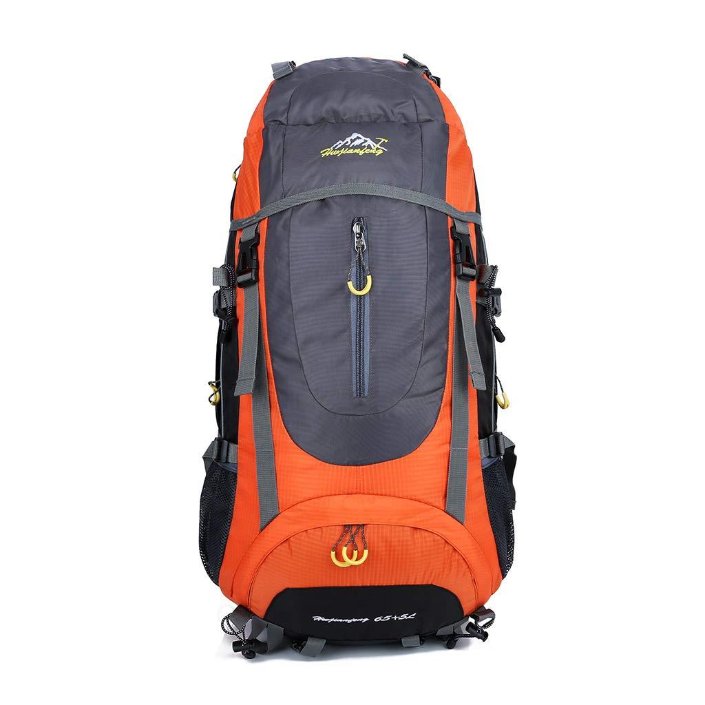 Rhfemd 70L 旅行用バックパック トレッキング リュックサック ハイキング 登山 キャンプ スポーツ デイパック メンズ レディース オレンジ YJWA  オレンジ B07QKSZKKT