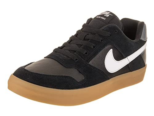 832316217fca1 Nike Men's Skateboard Delta Force Vulc Shoes, (Black/White-Gum Ligh 005), 9  UK: Amazon.co.uk: Shoes & Bags