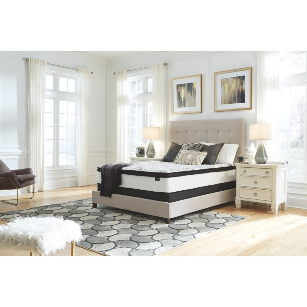 Firm Mattress-King Signature Design by Ashley 12 Inch Chime Express Hybrid Innerspring White
