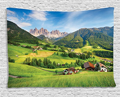 Landscape Tapestry Ambesonne Majestic Mountains