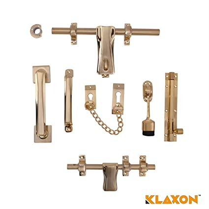 Klaxon Quality Brass Door Kit (Antique Finish)