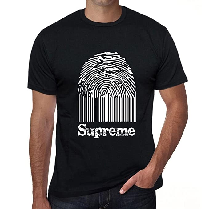 Supreme Fingerprint, tshirts for men, t shirt with words, gift tshirts