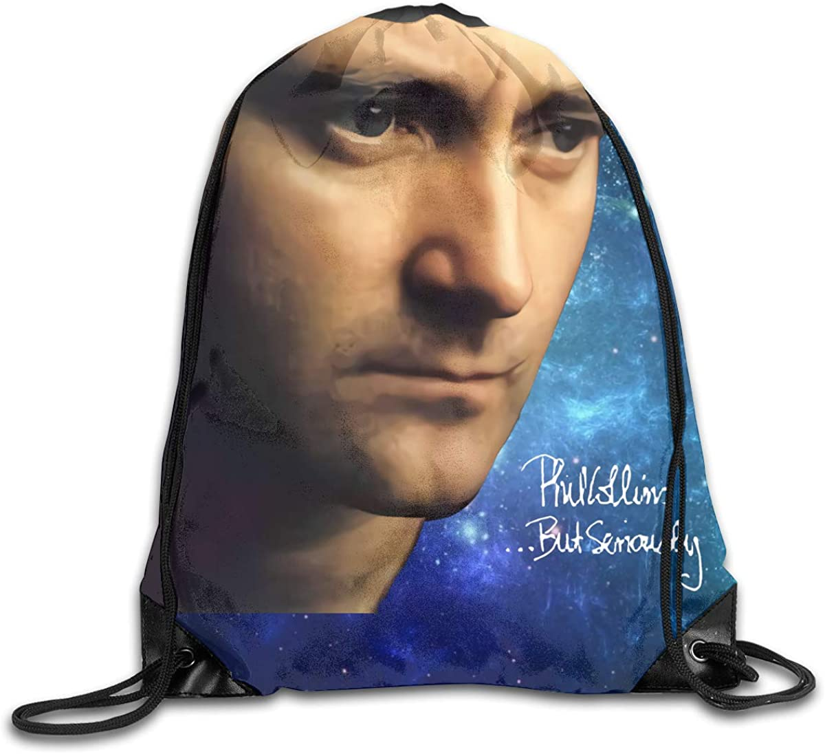 CAOI UUC Phil Collins Gym Drawstring Backpack Cinch Sack