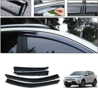 Side Window Deflectors For T Oyota Rav4 Xa40 2014-2018 Car Window Visor Sun Rain Smoke Vent Shade Tape-On Outside Visors