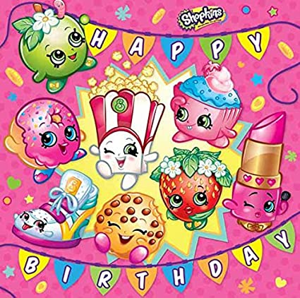Image Unavailable Not Available For Color Shopkins Happy Birthday Card