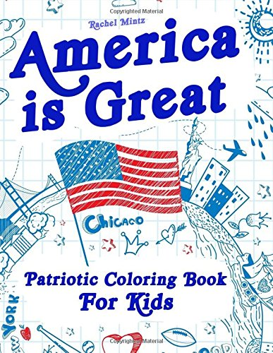 Galleon America Is Great Patriotic Coloring Book For Kids Proud