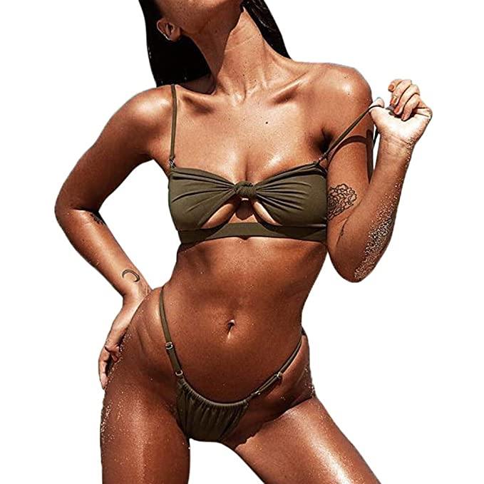JiaMeng Sujetador Push-up de Moda Sujetador Acolchado Bikini de Playa Traje de baño Ropa