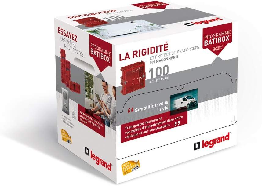 LEG-080117 LEGRAND DISTRIBOX BOITES BATIBOX MACONNERIE PROF 40MM LEGRAND 080117