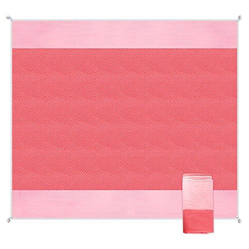 "Game Day Stadium Blanket (Letigo Beach Mat Blanket Sand Proof Sand Free Water-Resistant 79"" x 79"" (Pink))"