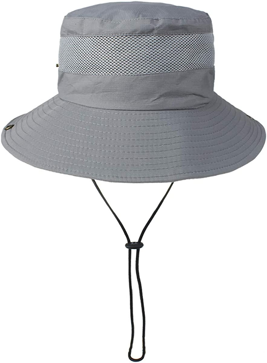 DaMohony Unisex Wide Brim Sunhat Women and Men Polyester Summer Breathable UV Protection Hat for Outdoor Fishing Camping