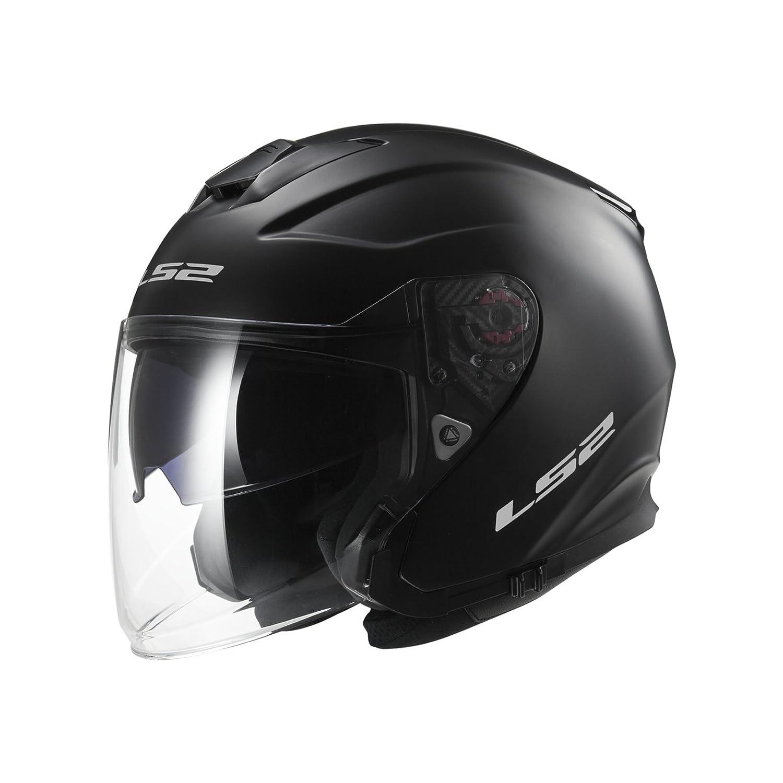 305211011XL LS2 OF521.10 Infinity Solid Open Face Motorcycle Helmet XL Matt Black