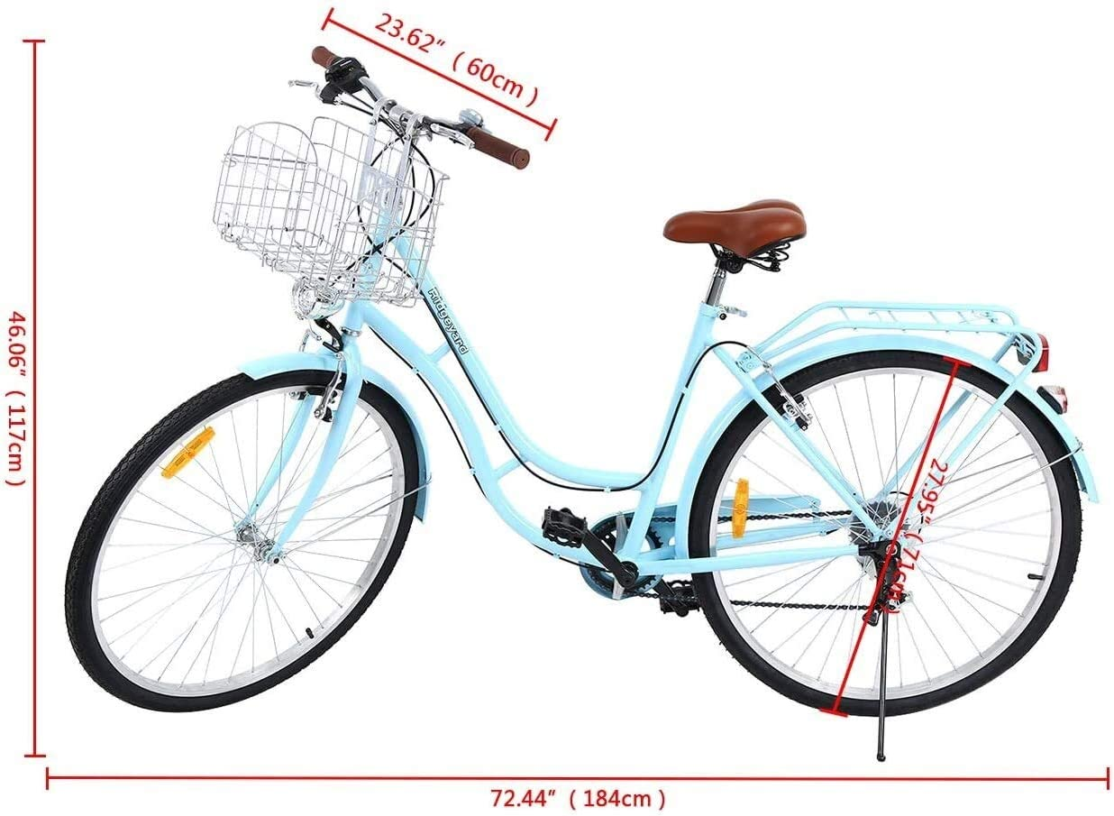 WOF Lady Classic Bike -City Bike Bicicleta de Hombre for Mujer Bicicleta de Ciudad for Mujer Deportes al Aire Libre Ciudad Bicicleta Urbana Bicicleta Shopper: Amazon.es: Hogar