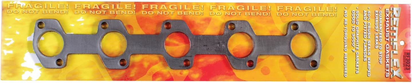 Remflex 3023 Exhaust Gasket for Ford V10 Engine, (Set of 2)