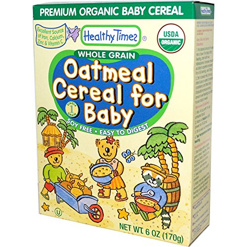 Healthy Times Oatmeal Cereal for Baby, Whole Grain - 8 oz