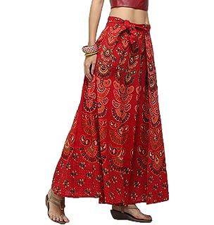 f1f85cb969 Lcoco&Dream Women's Bohemian Vintage Print A Line Long Maxi Skirt Hippie  Boho Dresses Drawstring Waist Adjustable