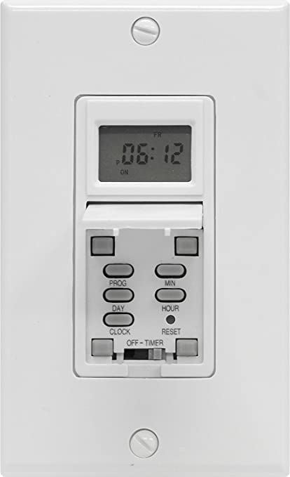 ge 15086 single pole single throw 7 day digital timer white wall rh amazon com