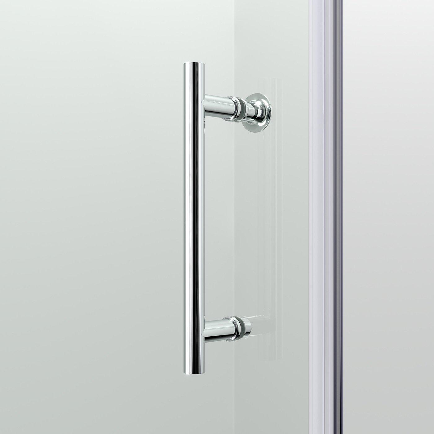 Ibathuk 1200Mm Modern Sliding 6Mm Glass Shower Enclosure Reversible Cubicle