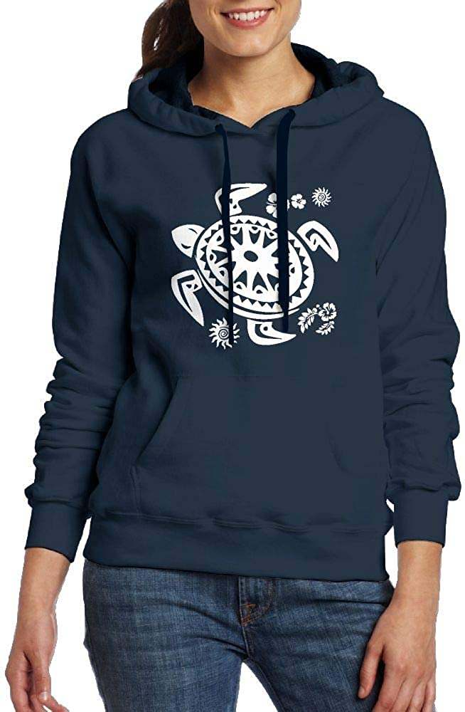 FJKL KLJF Sea Turtle Tribal Womens Long Sleeve Sweatshirt Blouse Hooded Pullover Shirt