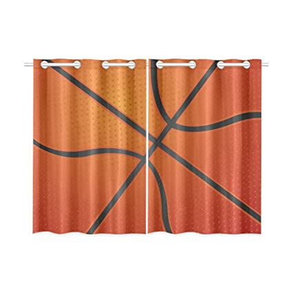 Blackout Window Curtains Basketball Texture Room Bedroom Kitchen Home Living Solid Grommet Drapes 52