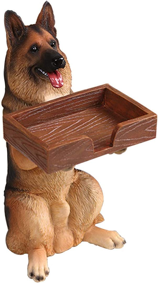 Dog Business Card Holder Display Stand - Name Card Holder, Desktop Business Card Holder - Business Name Card Desktop Name Card Organizer for Desk Desktop Table Organizer