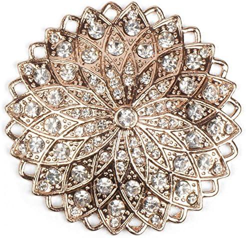 styleBREAKER Magneet Sieraden Hanger Bergkristal in ronde ster uitvoering voor sjaals sjaals of ponchos broche dames 05050035