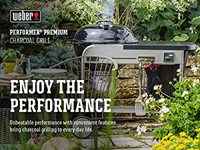 Weber 15401001 Performer Premium Charcoal Grill, 22-Inch, Black, 0