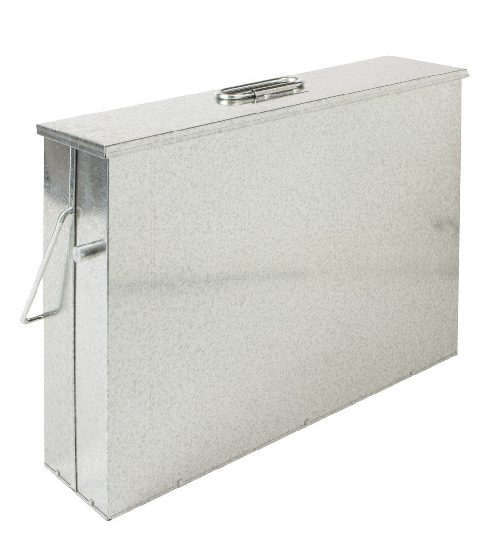 Elex® Fireside Ash Carrier Galvanised Metal Hot Tidy Box Container Fireplace Pan Bucket Bin (Galvanised) Asbox