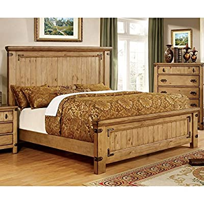 Furniture of America Cauble Antique Pine Bed