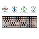 Keychron K4 Mechanical Keyboard, Wireless Mechanical Keyboard with White LED Backlight/Gateron Red Switch/Wired USB C / 96% Layout, Bluetooth Gaming Keyboard for Mac Windows PC Gamer (Color: Gateron Red Switch)