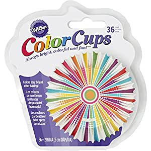 Wilton 415-8770 36 Count Dotted Line Striped Cupcake Liners