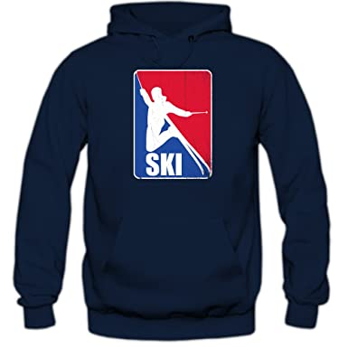 Shirt Happenz Ski NBA Style Sudadera con Capucha | Hombre | Deporte de Invierno | Esquí Alpino | Snowboard | Vacaciones | Hoody: Amazon.es: Ropa y ...