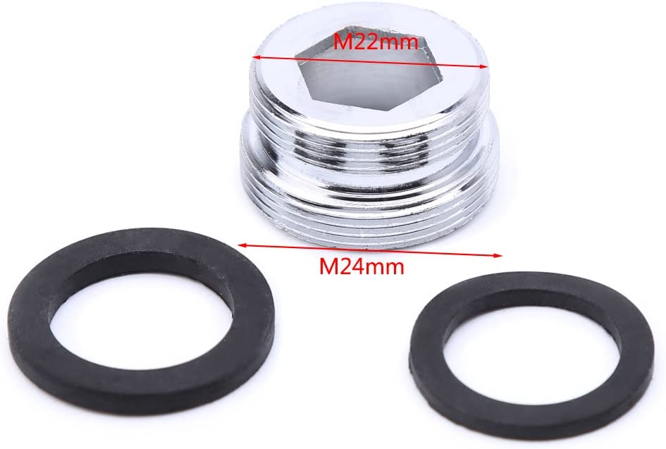 connettore aeratore per rubinetto da cucina a risparmio idrico 16 Solido adattatore in metallo con filettatura esterna