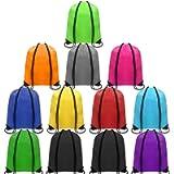 CHEPULA Drawstring Backpack Bags Cinch Sacks String Portable Nylon Multicolor for School,Travel,Gym,Sports & Storage