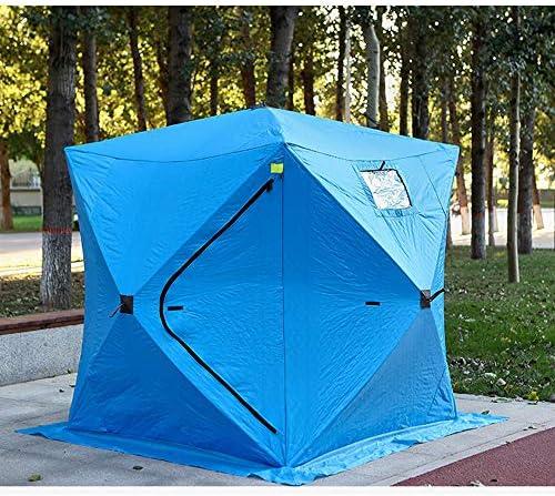 KGLOPYE - Tienda de campaña de invierno para pesca de hielo para 3 o 4 personas, impermeable, color azul