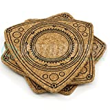 Rotor Shaped Beverage Coasters 4pcs Set - by