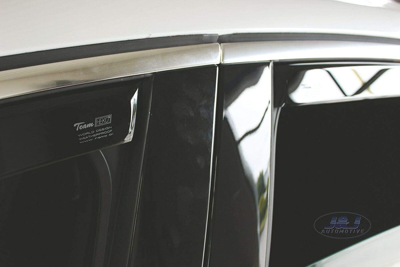 J/&J AUTOMOTIVE Deflecteurs dair d/éflecteurs de Vent Compatible avec 508 4 Portes 2010-pr/és Berline 4 pi/èces