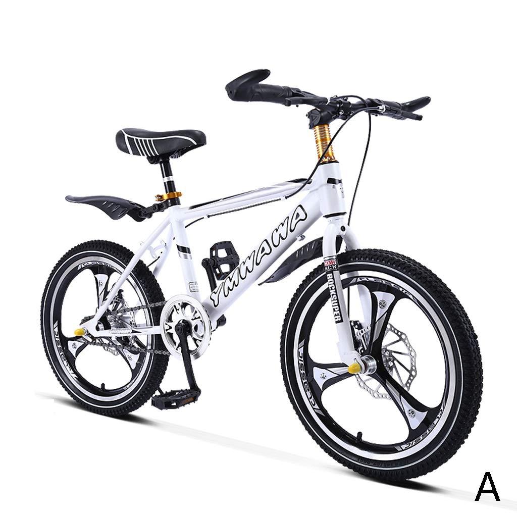 キッズ自転車 学生 自転車 シングルスピード マウンテンバイク 男の子 自転車 女の子 自転車 18インチ、ホイール1つ、高炭素鋼フレーム 18inches B07KJXWMKK  A 18inches