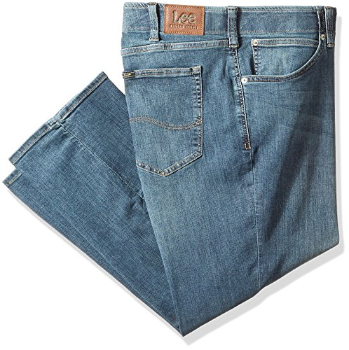 LEE Men's Big-Tall Modern Series Extreme Motion Relaxed Fit Jean, mega, 44W x 30L from LEE