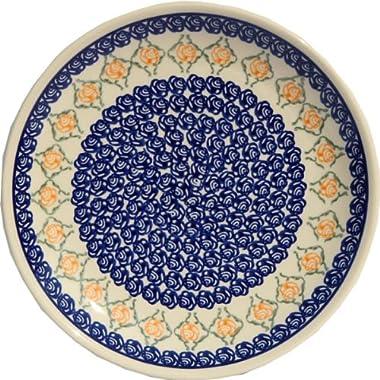 Polish Pottery Plate 7.5 Inch From Zaklady Ceramiczne Boleslawiec #Gu-814-869 Classic Pattern, 7.5 Inch Diameter