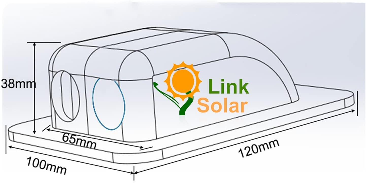 Link Solar Weatherproof ABS Solar Double Cable Entry Gland,Curved Cable Connector for All Cable Types 2mm/² to 6mm/² for Rv Black Boat Campervan