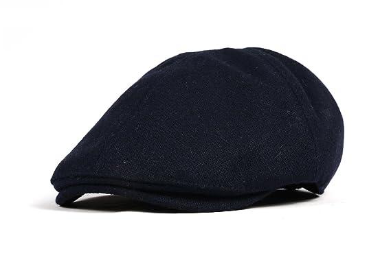 WITHMOONS Sombreros Gorras Boinas Bombines Wool Newsboy Hat Flat Cap SL3021 (Navy): Amazon.es: Ropa y accesorios