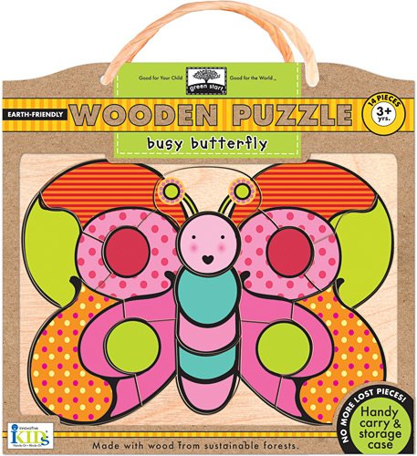 Green Start Wooden Puzzles - Innovative Kids Green Start Wooden Puzzles: Busy Butterfly (3Yrs+) Puzzle