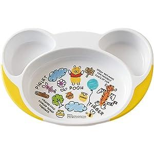 スケーター 子ども用プレート すくいやすい 子供食器 ベビー ランチ皿 プー スケッチ ディズニー 22.7×15.7×H3.6cm WP7